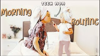 PREGNANT TEEN MOM MORNING ROUTINE: With a Toddler!