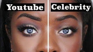 Celebrity Makeup VS Youtube Makeup