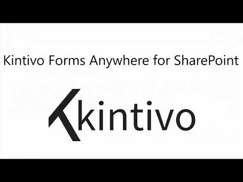 Put forms ANYWHERE, save to SharePoint. Kintivo Forms Anywhere for SharePoint (including Office 365) allows you to easily design SharePoint forms without code, including a responsive look & feel, branding and custom actions.