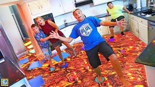 LAST TO LEAVE the FLOOR IS LAVA Challenge!