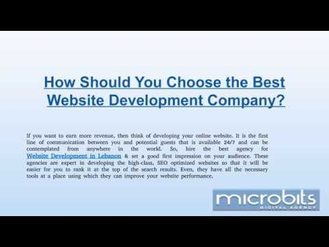 How Should You Choose the Best Website Development Company?