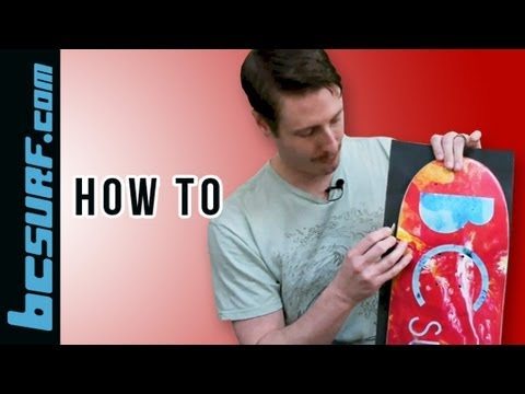 How to apply grip tape to a skateboard deck - BCSurf.com