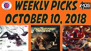 Weekly Picks for New Comic Books Releasing October 10, 2018