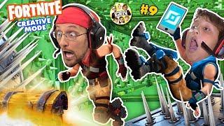 FORTNITE CREATIVE MODE! (FGTEEV Challenge Game: Dad vs Son) #9