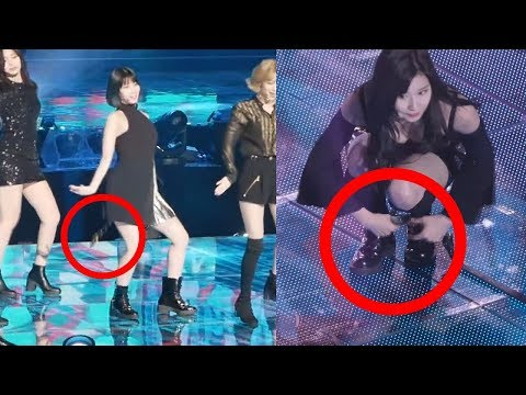 TWICE Sana Clean Up after Clumsy Momo Drop Her Earring and Belt