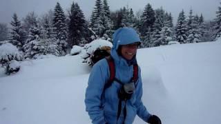 Raquetas de nieve en transilvania