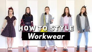 How to Style Workwear | Fashion Lookbook - YouTube