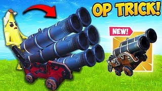 THIS CANNON TRICK IS *SUPER OP* - Fortnite Funny Fails and WTF Moments! #486