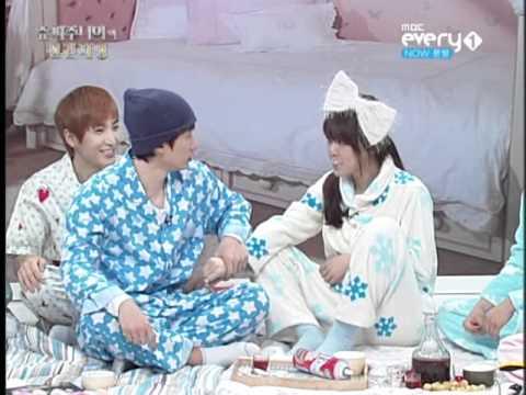 110209 SJ Foresight Ep.10 - Eunhyuk's Foam Kiss Scene