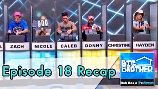 Big Brother 16 Episode 18 Recap and BB16 Live Feed News on