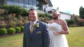 Groom cries at first look! 😂