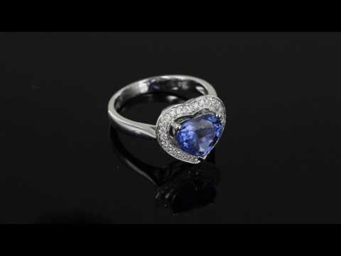 Browns Family Jewellers Diamond And Blue Spinel Cluster Ring