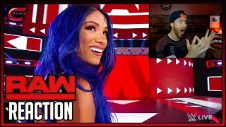 Sasha Banks Returns & Heel Turn Reaction  RAW August 12th 2019 