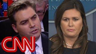 Jim Acosta to Sarah Sanders: That's patently untrue