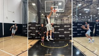 Anthony Davis Weighted Vest Dunk Workout, Preparing For LA Lakers Debut!