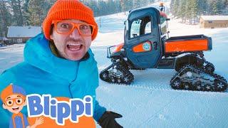 Blippi Visits A Ski Hill | Educational Videos For Kids