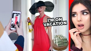 Influencer Fakes Having A Perfect Life