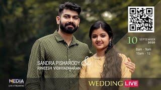 Sandra Pisharody weds Rineesh Vidhyadharan