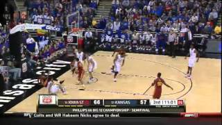 03/14/2014 Iowa State vs Kansas Men's Basketball Highlights
