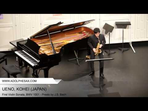 Dinant 2014 - UENO Kohei (First Violin Sonata, BWV 1001 - Presto by J.S. Bach)