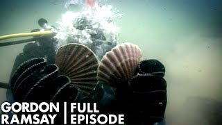 Gordon Ramsay Goes Diving For Scallops | The F Word Full Episode