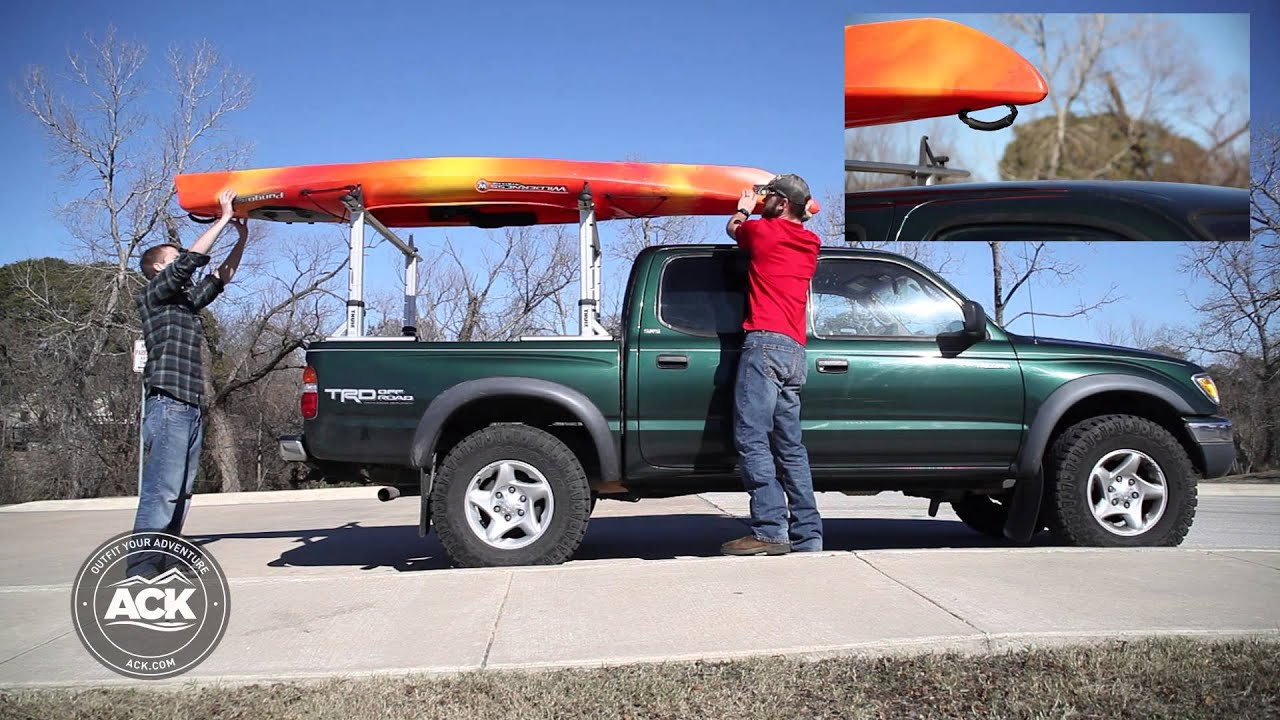 How To Properly Secure A Kayak To A Roof Rack Youtube