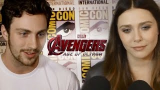 Aaron Taylor-Johnson & Elizabeth Olsen Talk Avengers 2 Age