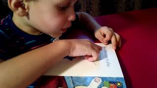 """Max Reads At Age 3 """"At Preschool With Teddy Bear"""" (2016)"""