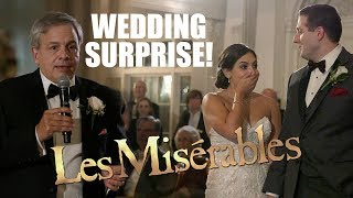 Surprise Wedding Les Misérables Musical Flash Mob!  Watch the Bride's REACTION!!!!