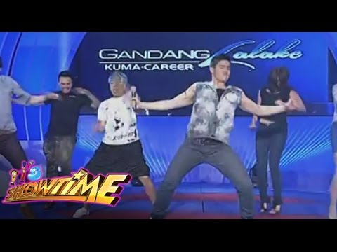 Vice vs. Gandang Lalake contestant sa dance floor