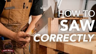 How to Saw Correctly - tips and tricks with a Japanese Pull saw