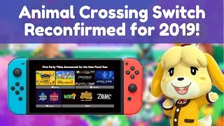 Animal Crossing Switch Reconfirmed for 2019!