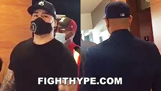 "ANDY RUIZ & CHRIS ARREOLA CROSS PATHS FOR FIRST TIME; BUMP FISTS & TELL EACH OTHER ""YOU LOOK GOOD"""