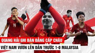 QUANG HẢI GHI BÀN ĐẲNG CẤP CHÂU ÂU   VIỆT NAM DẪN TRƯỚC MALAYSIA 1-0   Khán Đài Online