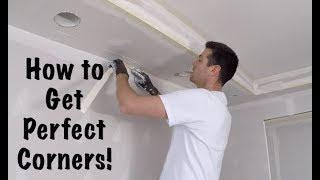 HOW TO TAPE DRYWALL (INSIDE CORNERS)