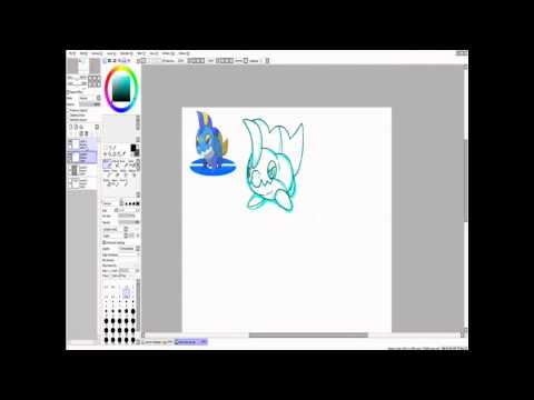 Pokemon tutorial: Gen 1 ken sugimori style