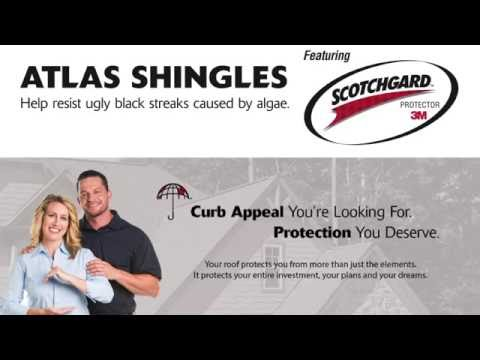 Protect Your Home's Curb Appeal with Atlas Shingles featuring Scotchgard Protector