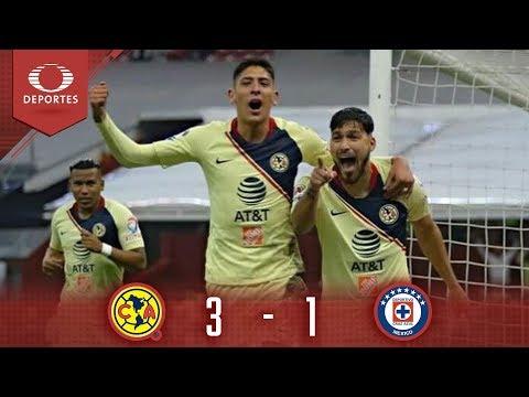 Gran victoria de América | América 3 - 1 Cruz Azul | Cl 19 Cuartos ida | Presentado por Corona