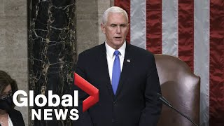 Mike Pence delivers statement formally certifying Biden as winner of presidential election | FULL
