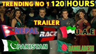 RACE 3 TRAILER | BLOCKBUSTER TRENDING NO 1 SINCE 120 HOURS IN PAKISTAN NEPAL UAE BANGLADESH