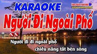 Người Đi Ngoài Phố Karaoke 123 HD - Nhạc Sống Tùng Bách