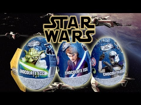 3 star wars kinder surprise eggs star wars surprise toys youtube. Black Bedroom Furniture Sets. Home Design Ideas