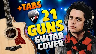 Green Day - 21 guns (easy tabs for fingerstyle guitar cover)