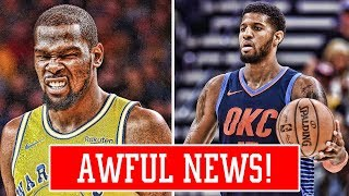 PAUL GEORGE COULDN'T LIFT HIS SHOULDER! KEVIN DURANT CONTINUES TO DEFEND HIMSELF!