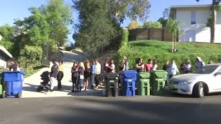 Fans flock to Chris Brown's house for yard sale