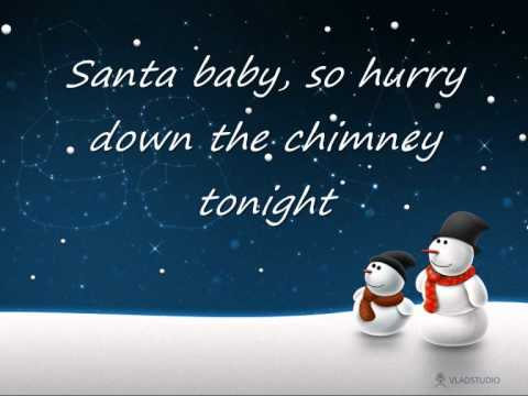Santa Baby- Kylie Minogue (LYRICS)