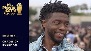 Chadwick Boseman Chats Wakanda Forever Salute, Avengers 4 & More!   2018 MTV Movie & TV Awards