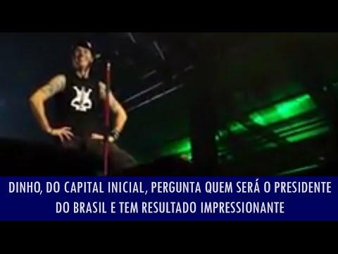 Baixar Dinho, do Capital Inicial, pergunta quem será o presidente do Brasil e tem resultado impressionante