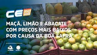Maçã, limão e abacate com preços mais baixos por causa da boa safra