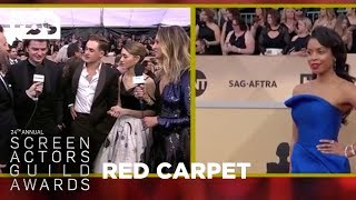 Stranger Things Teens: Red Carpet Interview | 24th Annual SAG Awards | TBS